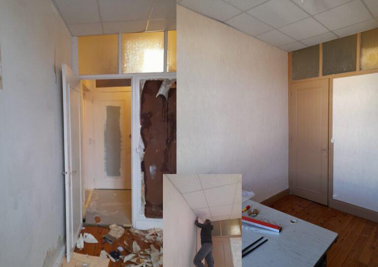 Rénovation peinture d'un bureau